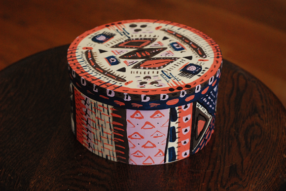 Tribal Print Storage Containers