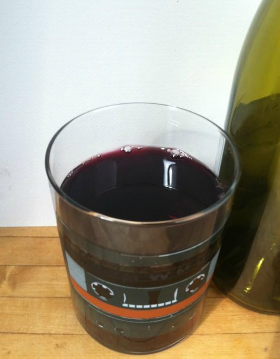 Wine in a Mixtape Glass