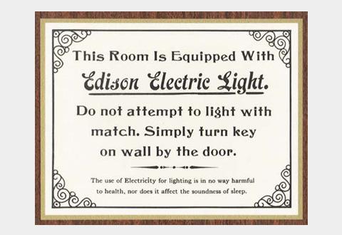 Edison lightbulb quasi-ad