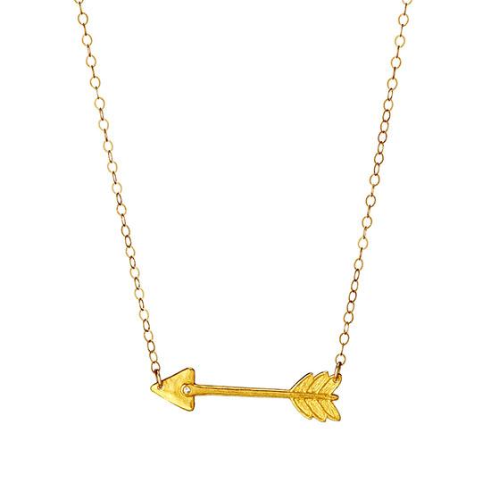 Diamond Arrow Necklace   UncommonGoods