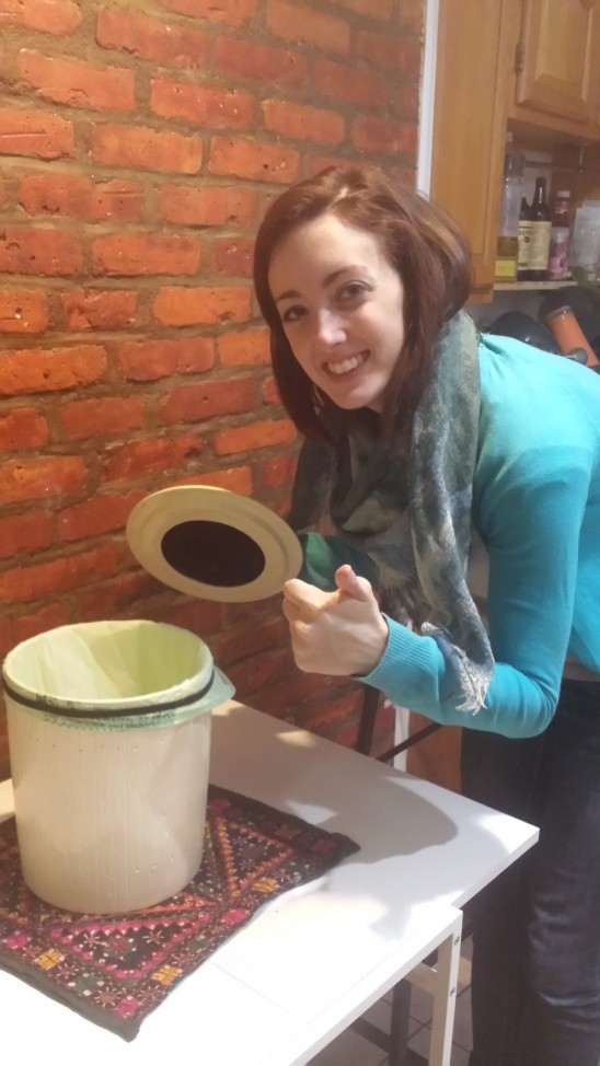 Kara with Compost Collector