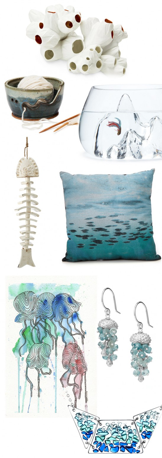 Four Elements Mood Board: Water | Gift Guide | UncommonGoods