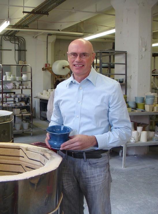 Paul Brothe in his ceramic studio | UncommonGoods