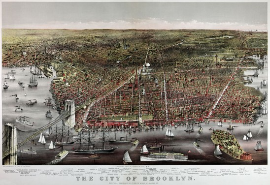 Currier and Ives Image of Brooklyn