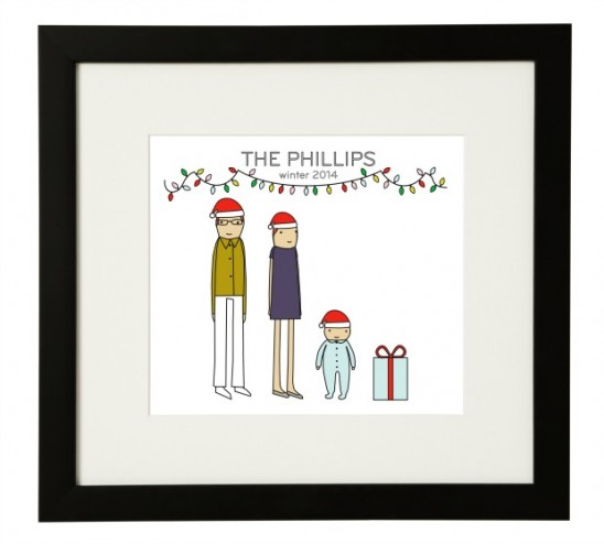 Personalized Holiday Family Print | UncommonGoods