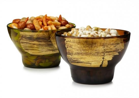 Gold Leaf Upcycled Bowl | UncommonGoods