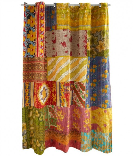 Kantha Shower Curtain | UncommonGoods