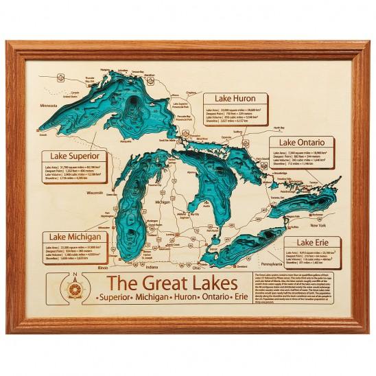 Lake Topography Art | UncommonGoods