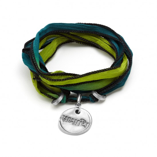 Silk Wrapped Soul Bracelet - Consciousness  UncommonGoods