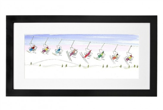 Personalized Family Ski Art | UncommonGoods