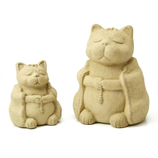 Zen Cat Garden Sculpture | UncommonGoods