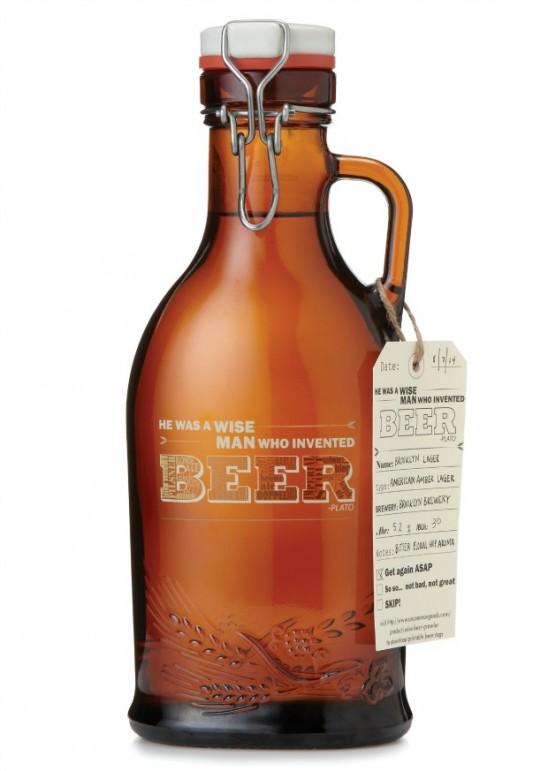 Wise Beer Growler | UncommonGoods