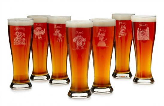 Seven Deadly Sins Pilsner Glasses | UncommonGoods