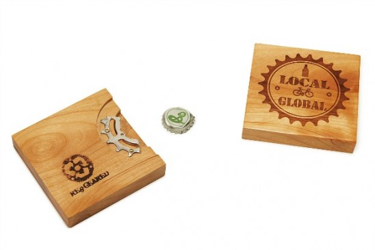 Reclaimed Bike Gear Bottle Opener Coaster | UncommonGoods