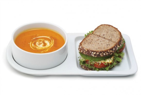 Soup and Sandwich Ceramic Tray Duo | UncommonGoods