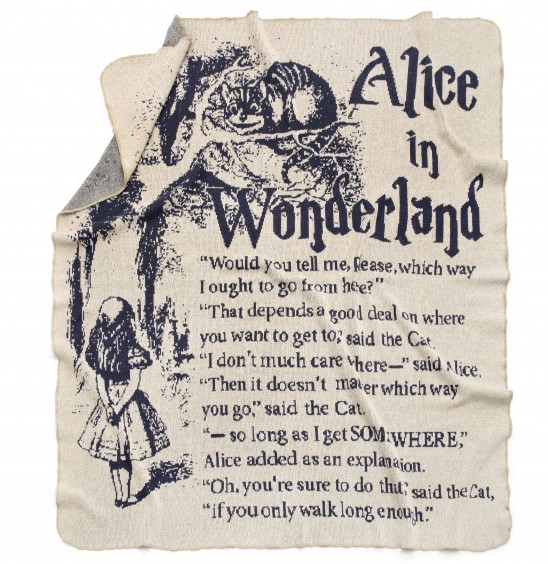 Alice In Wonderland Storybook Blanket | UncommonGoods