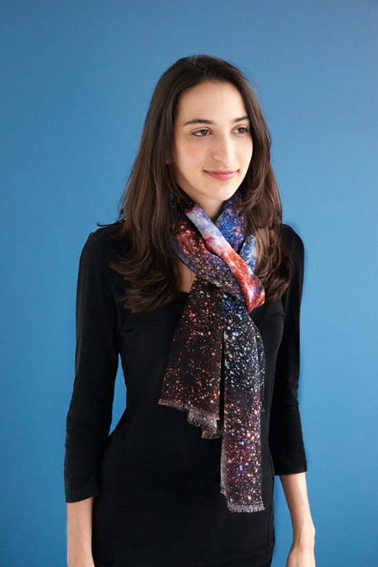 Hubble Telescope Milky Way Scarf | UncommonGoods