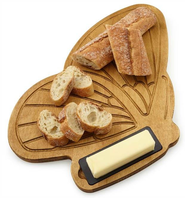 Bread and Butterfly Serving Board | UncommonGoods