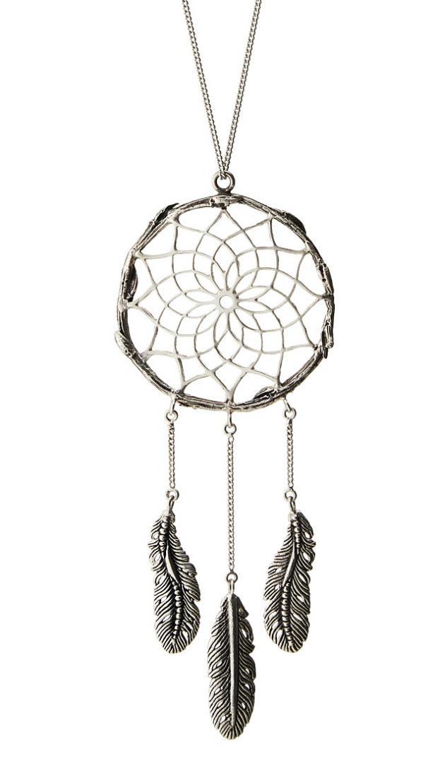 Silver Dreamcatcher Pendant | UncommonGoods