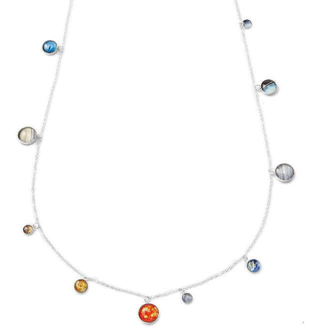 Silver Solar System Necklace | UncommonGoods