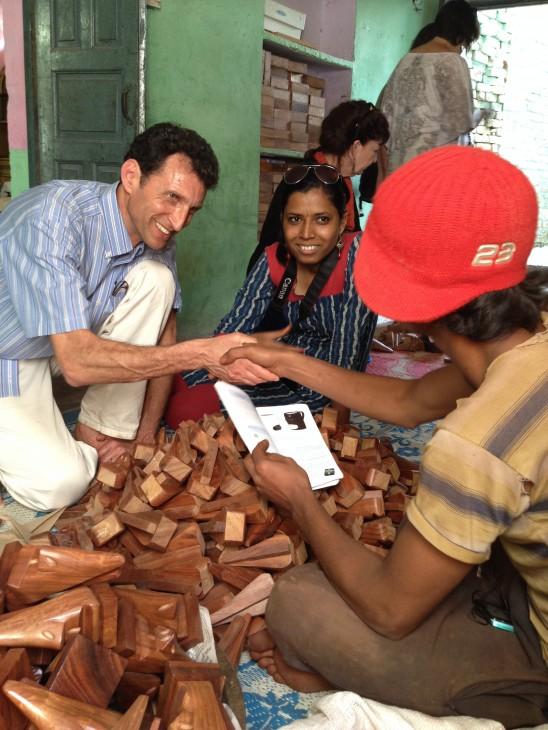 Dave Bolotsky meeting with Artisans in India
