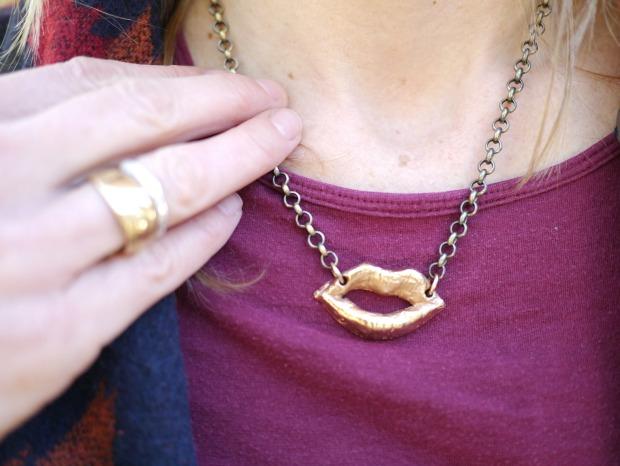 I Speak Up Rose Gold Necklace   UncommonGoods