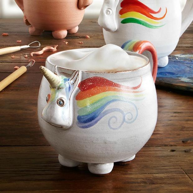 Elwood the Rainbow Unicorn Mug | UncommonGoods