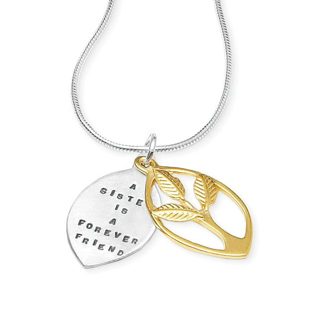 A Sister is a Forever Friend Necklace | UncommonGoods