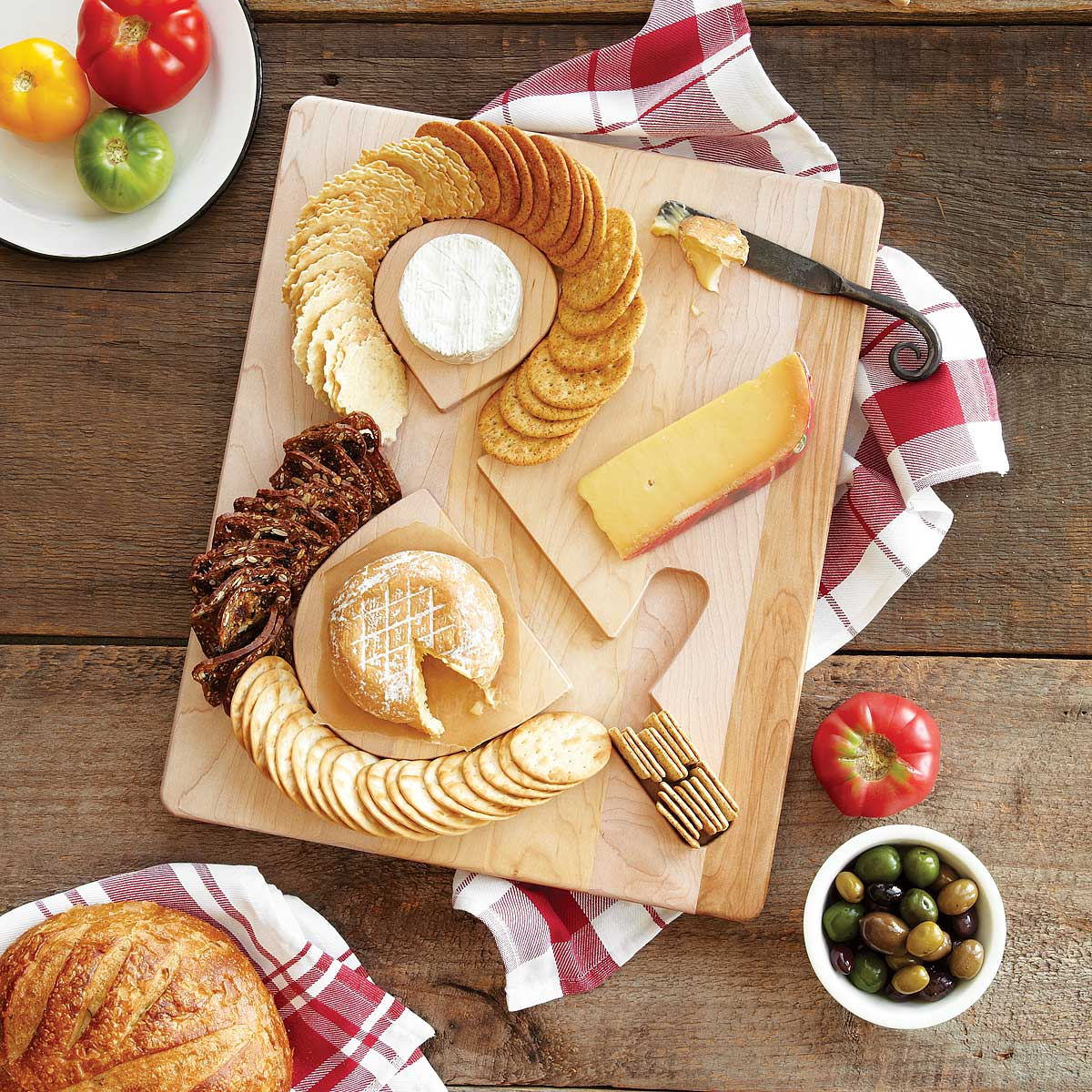 Cheese & Crackers Board | UncommonGoods