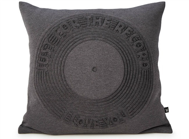 Just for the Record Pillow | UncommonGoods