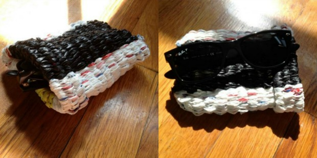 Sunglasses case made with Easy Weaving Loom