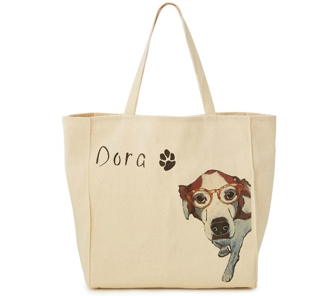Picture Your Pet Custom Totebag | UncommonGoods