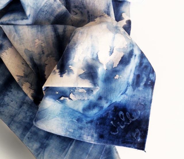 Indigo Textile Dye Kit Scarf | UncommonGoods