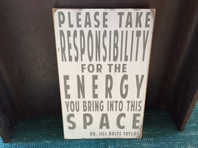You are responsible...