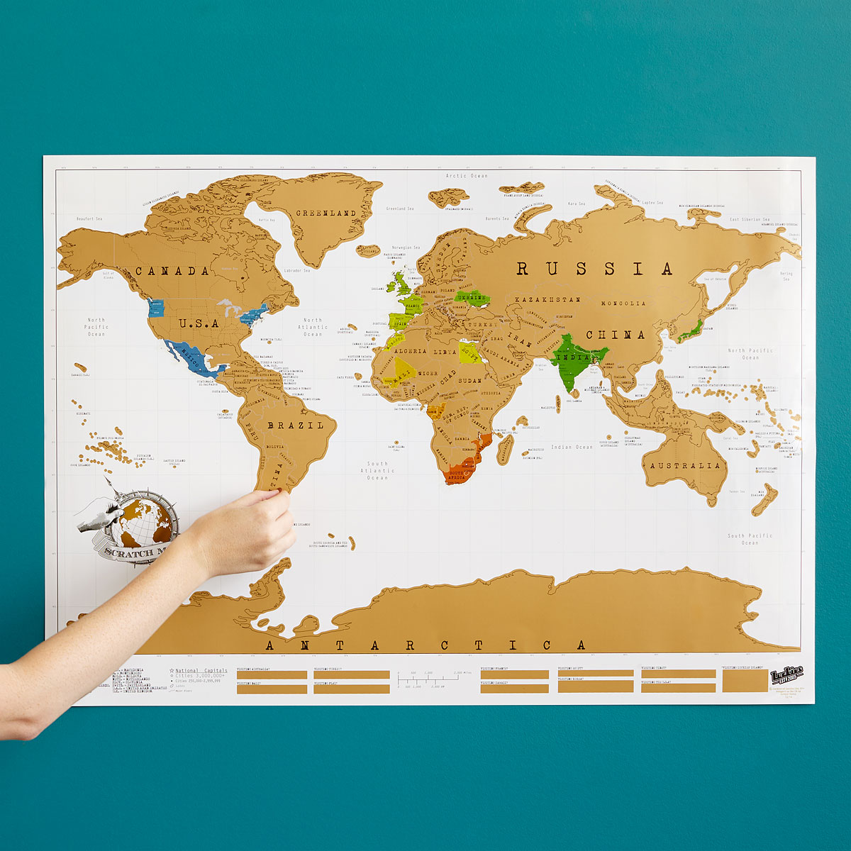 Scratch Map Scratch Off World World Poster Uncommongoods - Scratch-us-map