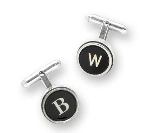 Silver Type Key Cufflinks | UncommonGoods