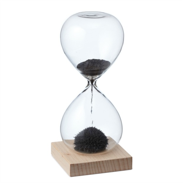 Magnetic Sand Hour Glass | UncommonGoods