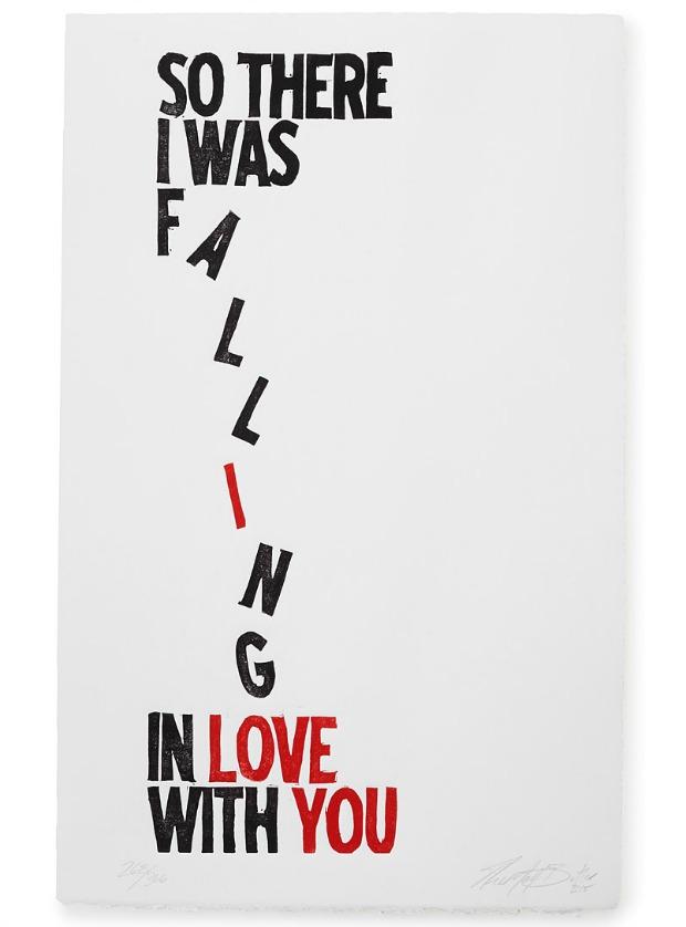 Falling Linocut | UncommonGoods