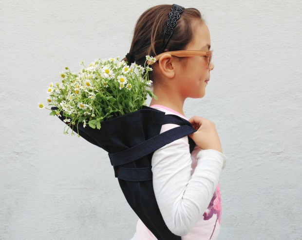 Nabie Bertrand with the Sac a Fleur