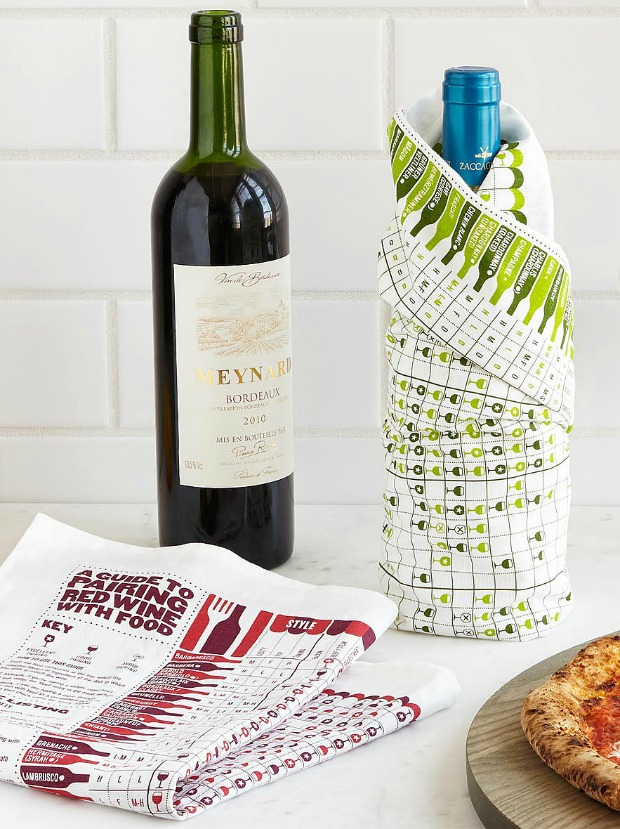 Wine Pairing Towel Set | UncommonGoods