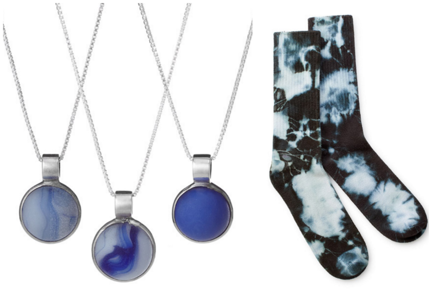 Beach Marble Necklace & Tie Dye Socks| UncommonGoods