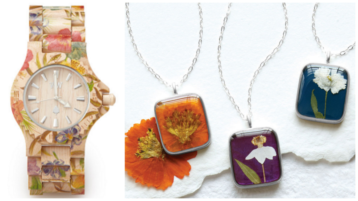 Floral Watch Birth Month Flower Necklace|UncommonGoods