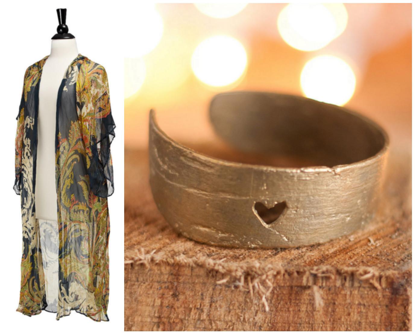 Long Sheer Loungewear Kimono & Love Birch Cuff|UncommonGoods