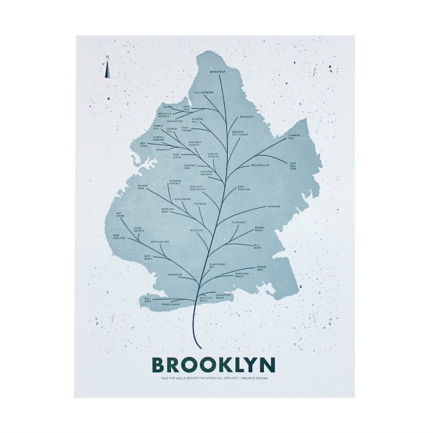 Neighborhood Leaf Map | UncommonGoods
