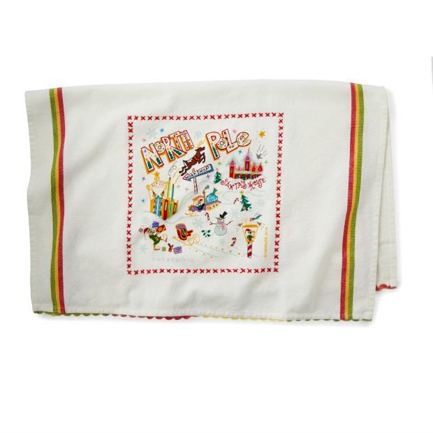 North Pole Dish Towel