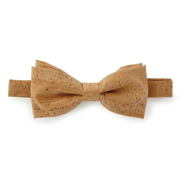Natural Cork Bow Tie   UncommonGoods