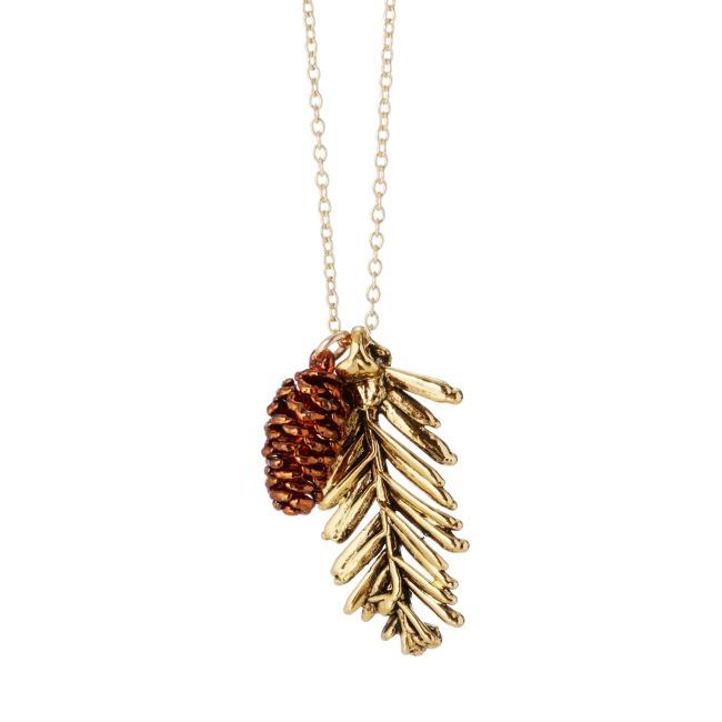 Redwood Needles & Pinecone Pendant