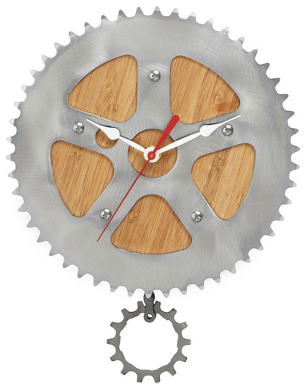 Bamboo Bike Wall Clock | UncommonGoods