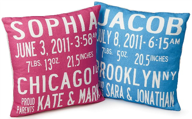 Birth Announcement Pillows | UncommonGoods
