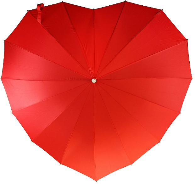 Crimson Heart Umbrella | UncommonGoods